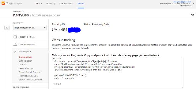 analytics tracking id