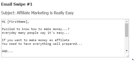 email swipe sample